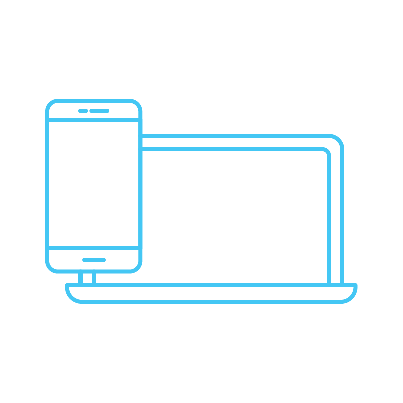 Responsive image of phone and laptop